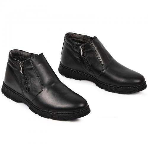 Ботинки Софт черная кожа