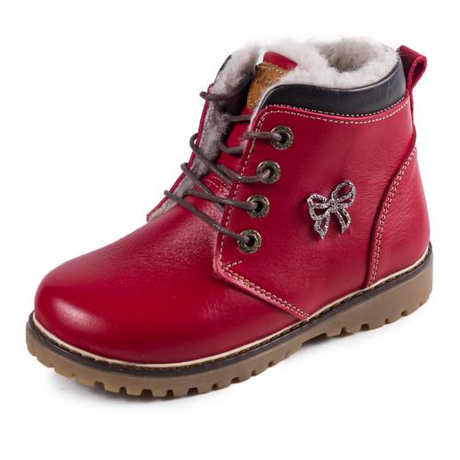 Ботинок Кид красная  кожа