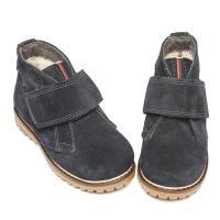 Ботинок НФ липучка серый замш